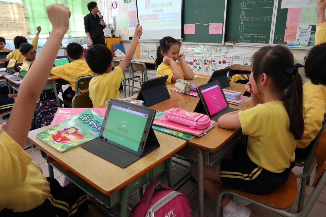中文課堂上運用Ipad進行分組學習